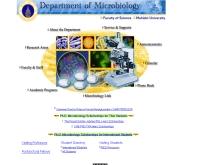 คณะวิทยาศาสตร์ ภาควิชาจุลชีววิทยา มหาวิทยาลัยมหิดล   - sc.mahidol.ac.th/scmi
