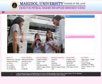 คณะกายภาพบำบัดและวิทยาศาสตร์การเคลื่อนไหวประยุกต์ มหาวิทยาลัยมหิดล - pt.mahidol.ac.th/