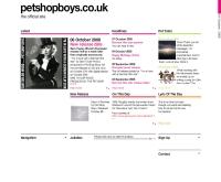 เพ็ท ชอป บอยส์ : Pet Shop Boys  - petshopboys.co.uk/