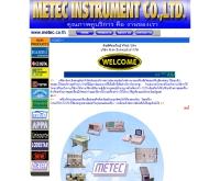 บริษัท มีเทค อินสทรูเม้นท์ จำกัด  - metec.co.th/