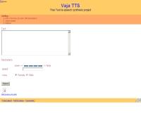โครงการเทคโนโลยีสังเคราะห์เสียงพูดภาษาไทย - vaja.nectec.or.th/onlinedemo/