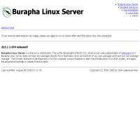 บูรพาลีนุกซ์เซอร์ฟเวอร์ - buraphalinux.org