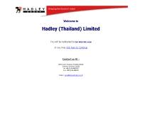 บริษัท แฮดเลย์ (ประเทศไทย) จำกัด - hadleythailand.co.th