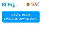 รางวัล BUPA Clinical Excellence Award 2006 - geocities.com/bupa_awards/clinical_excellent_award_2006