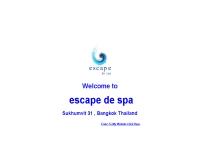 เอสเคปเดอะสปา - escapedespa.com